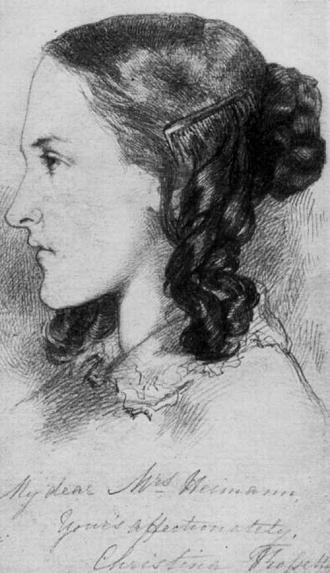 Данте Габриэль Россети Портрет Кристины Россети 1847 сж (330x573, 35Kb)
