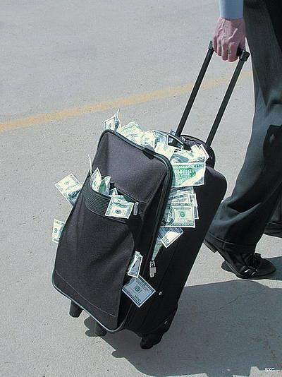 полный чемодан денег - иллюстрация к статье искусство управлять деньгами