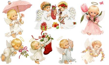 """Схема вышивки  """"Маленькие ангелы """": комментарии."""