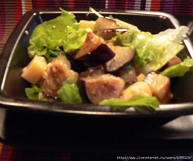 кулинария,рецепты,питание,продукты,теплый салат,баклажаны с сыром