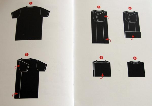 как правильно складывать футболку.