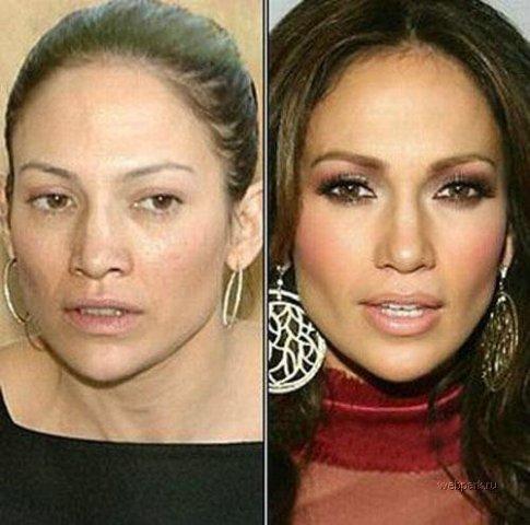 Какая знаменитость без макияжа