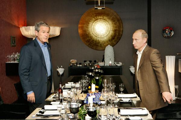 Путин и Буш