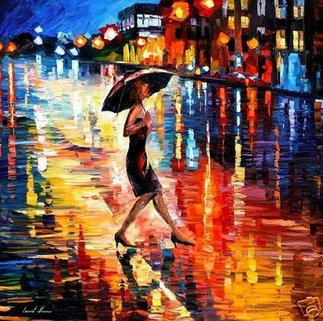 14 Late return (The Talented Oil Painting Artist, Leonid Afremov on CrispMe).