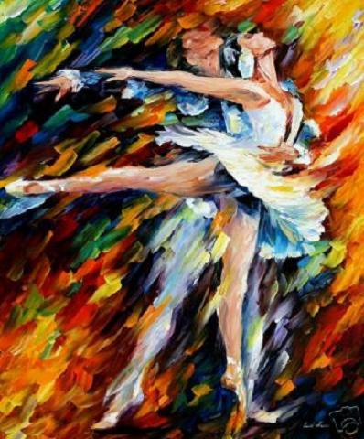 """Серия  """"Танец """".  Полет Сцена из балета  """"Ромео и Джульетта """" ."""