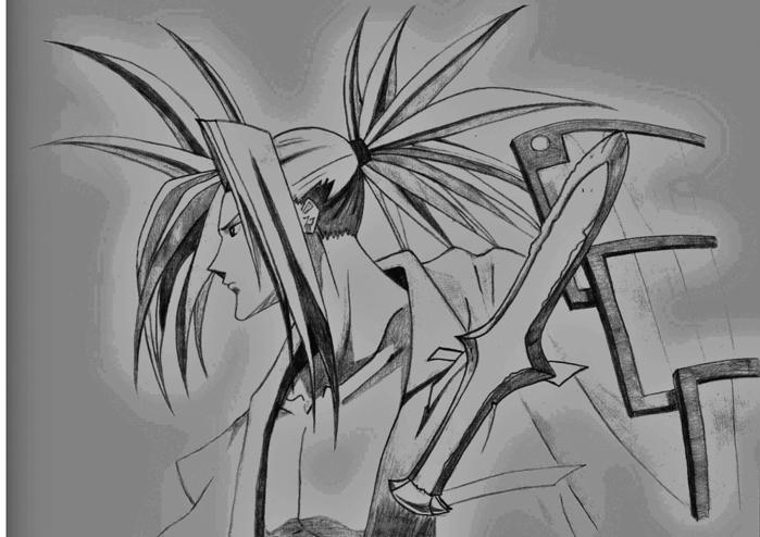 рисунки карандашом шаман кинг: