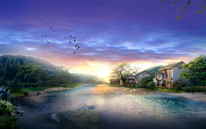 Зеленые листья. и синий ручей. нить. свою. соберу. краски.  Красные розы в любимых... картину. радуги.
