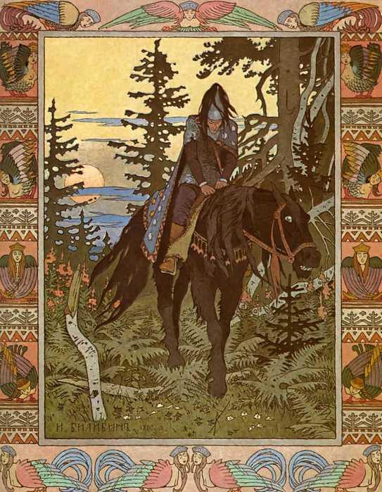 Черный всадник иллюстрация к сказке