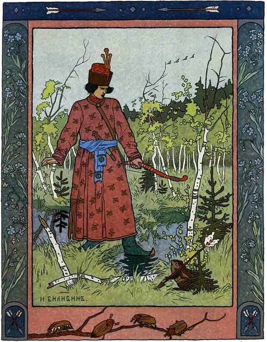 Иллюстрация к присказке жил был царь