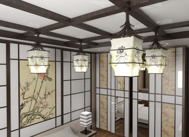 Светильник потолочный своими руками в японском стиле