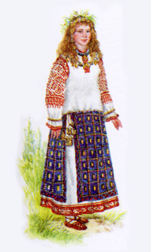 Вышивка крестом славянские