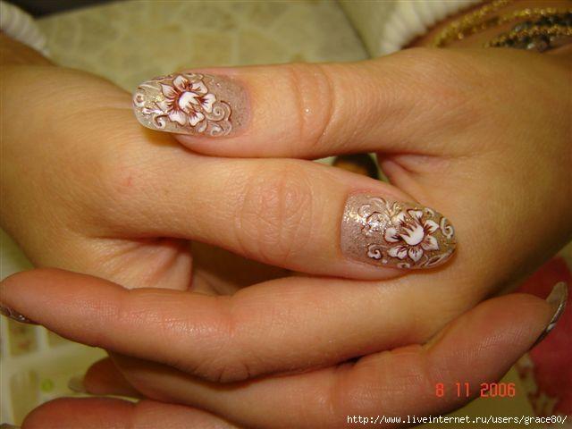 Укрепляем ногти акрилом 2 акриловыми