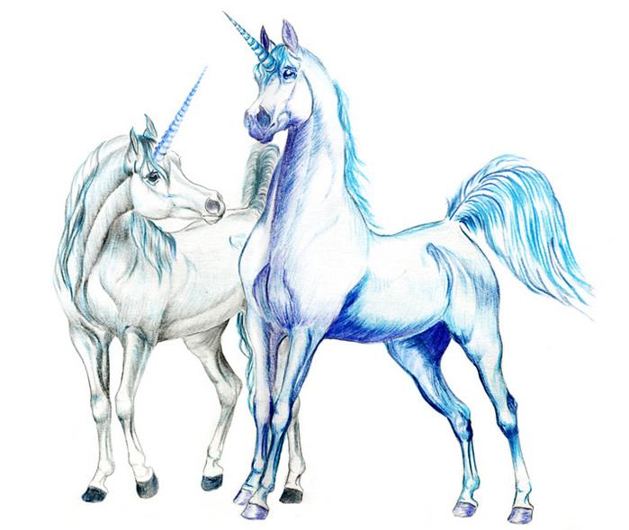Единорог - Символизирует целомудрие, а так же служит эмблемой меча.  Традиция представляет его обычно в виде белого...