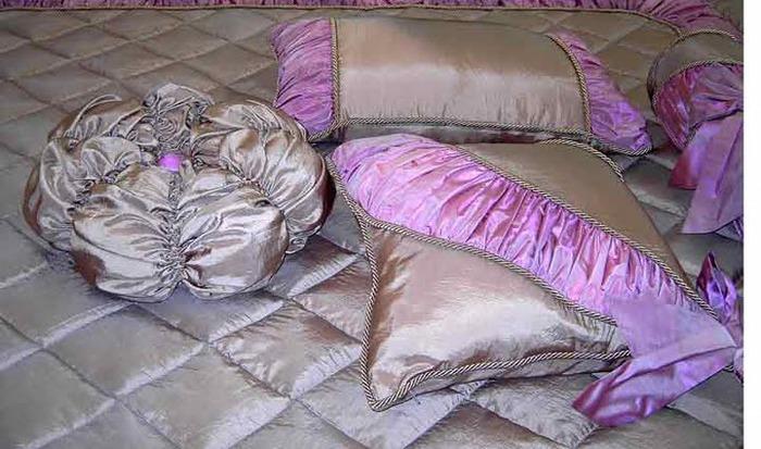 Подушка и покрывало своими руками