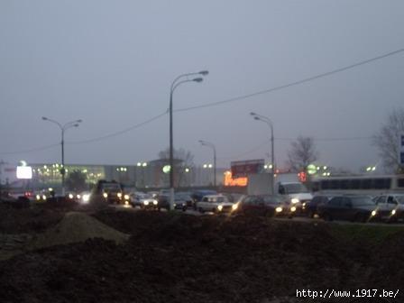 Пробка на Пролетарском проспекте г. Щелково