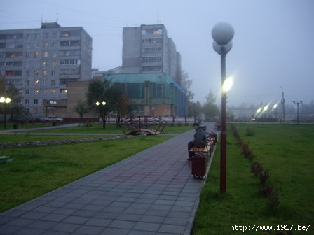 Бульвар около магазина HyperGlobus в Щелково