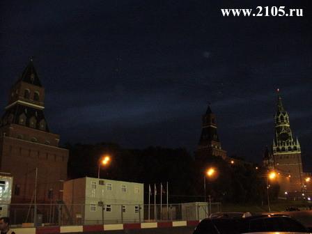 Башни Кремля: Константино-Еленинская, Набатная, Царская и Спасская башни