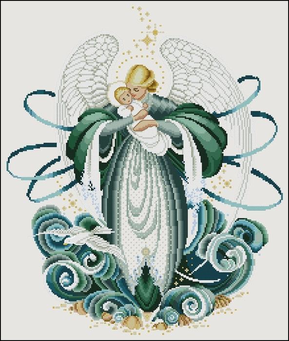 схема вышивания ангела.