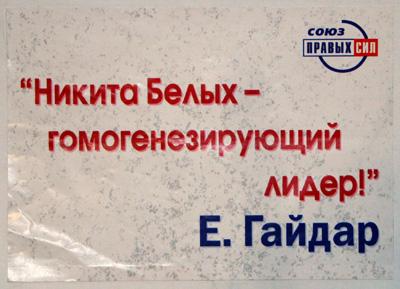 Гомогенизирующий блендер. Как вы думаете - Гайдар Никиту Белых похвалил или обгадил этой фразой?