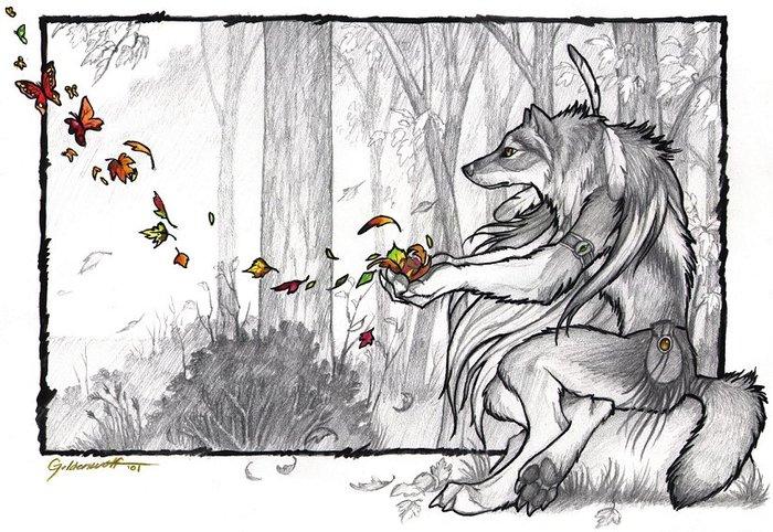 Антропоморфный волк в доспехах 2 фотография