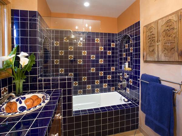 Варианты отделки ванных комнат фото