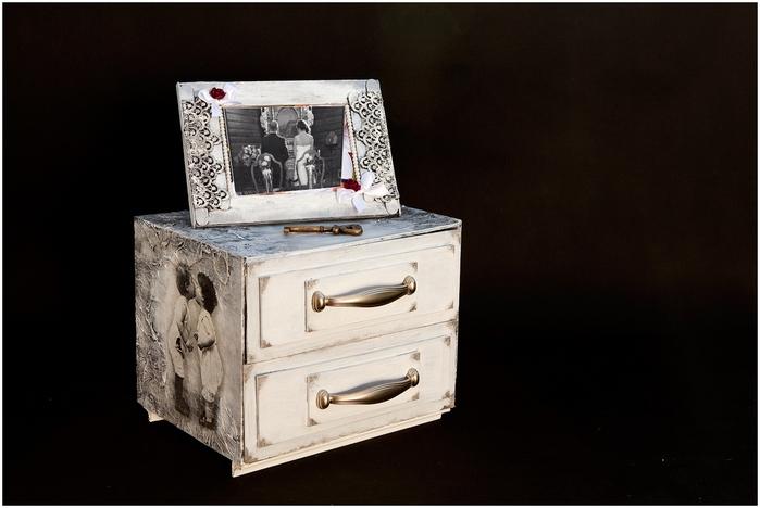 Комодик и рамочка для фотографий из картона. Мастер-класс (3) (700x468, 179Kb)
