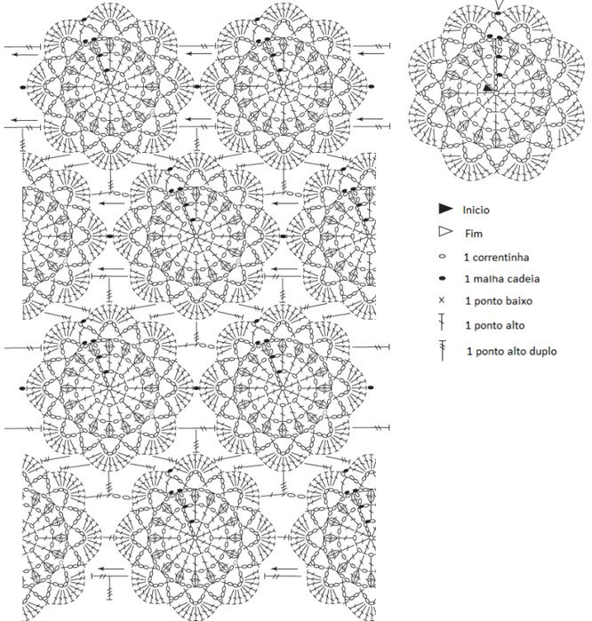 Вязание и схемы.пуфик крючком