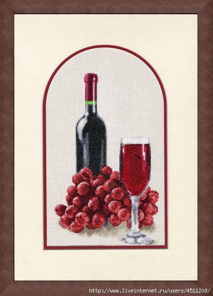 СЖ-011 Натюрморт с вином (433x600, 129Kb)