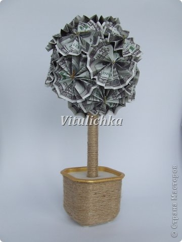 Мастер класс денежное дерево из купюр своими