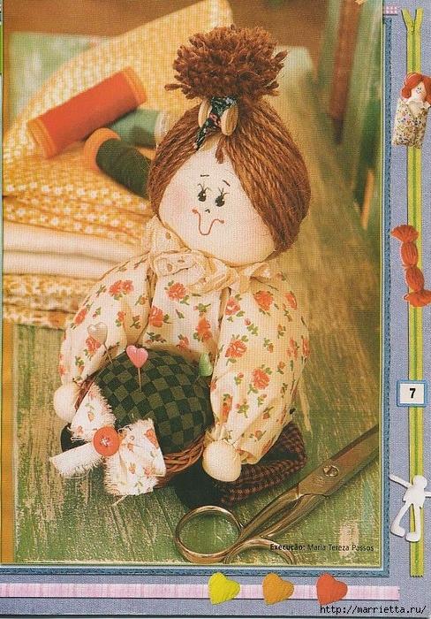 Шьем текстильную куклу. Идеи с выкройками (6) (488x700, 380Kb)