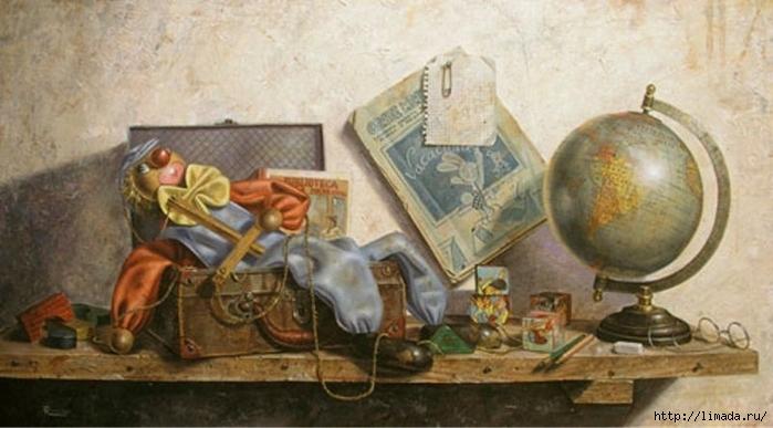 Vacaciones, Óleo sobre lienzo Ricardo Renedo Pintor Español (700x387, 194Kb)