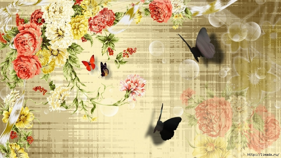Картинки для декупажа цветы винтаж 2