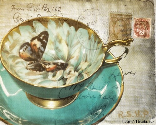 Чайная тема декупаж