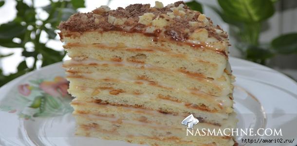Торт на сковороде с творогом рецепт с фото