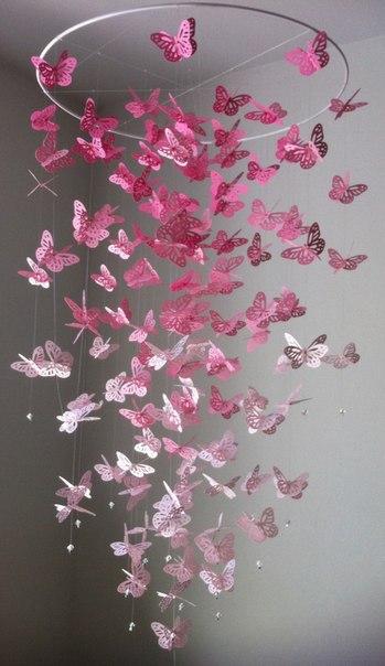 Украшения из бумаги бабочки