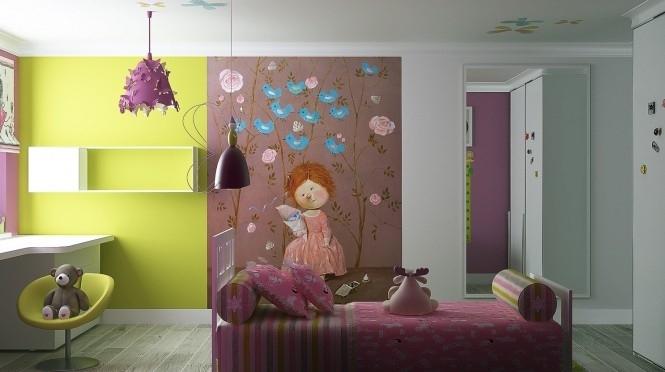 дизайн детской для девочки фото 7 (665x372, 166Kb)