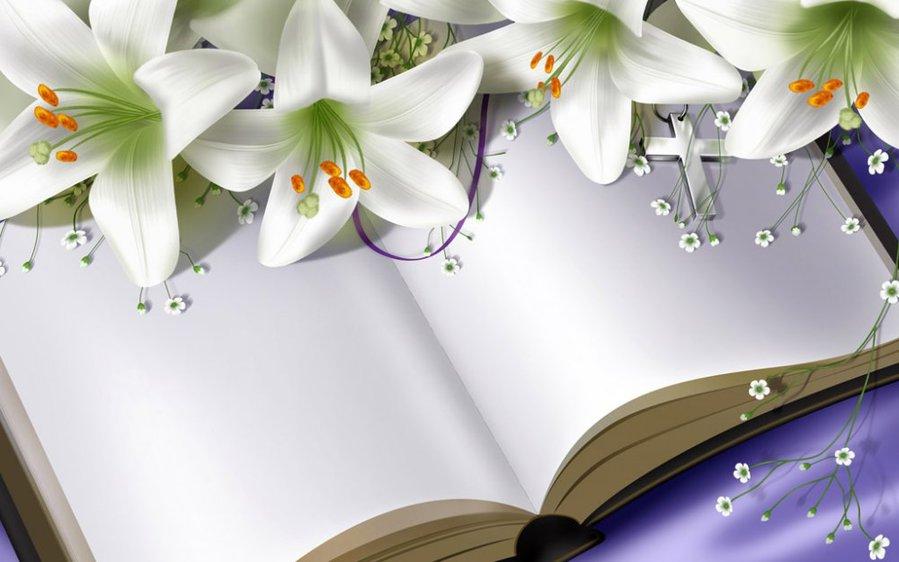 Картинки книги с цветами 6