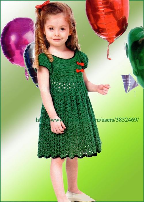 зелёное платье на 6 лет (500x700, 227Kb)