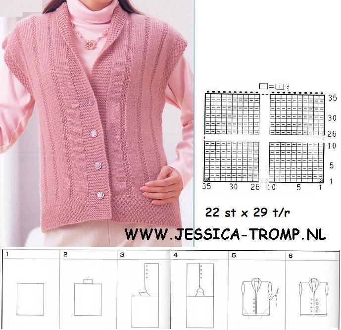 Вязание спицами жилеты и безрукавки для женщин больших размеров 100
