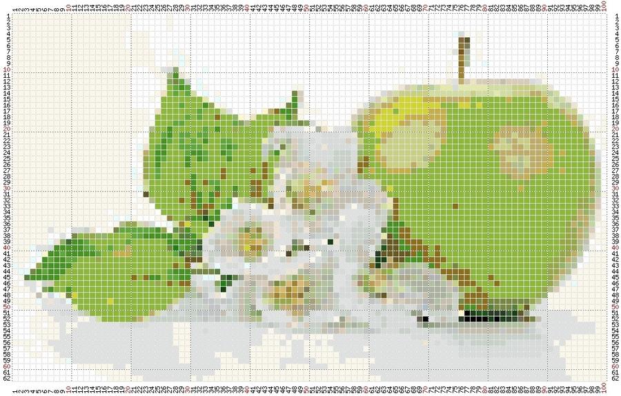 Вышивка схема яблок 15