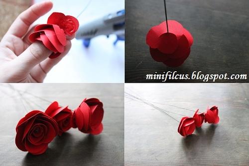 Как сделать бумажные розы. Мастер-класс (3) (500x333, 119Kb)