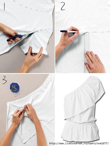 Что можно сделать из белой футболки видео