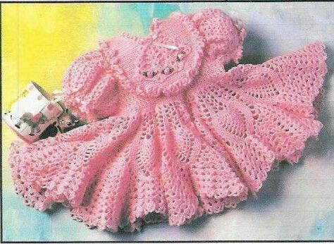 вязаные платья для девочки 1
