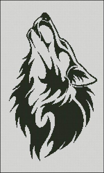 монохром (волк) (365x604, 170Kb)