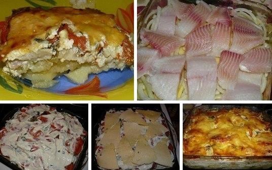Картофельная запеканка с скумбрией в духовке рецепт пошагово 144