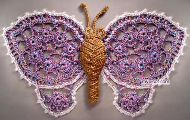 钩针:四种蝴蝶的钩法 - maomao - 我随心动