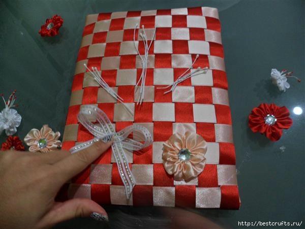 Ленточная обложка для книжки. Мастер-класс (19) (600x450, 112Kb)