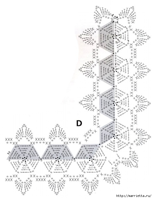 Вязание крючком. Кружева и бордюры (14) (524x681, 175Kb)