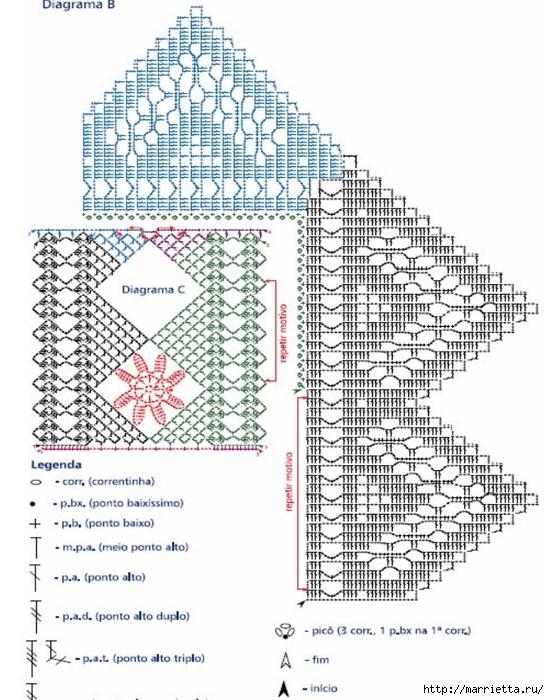 Вязание крючком. Кружева и бордюры (18) (549x700, 282Kb)