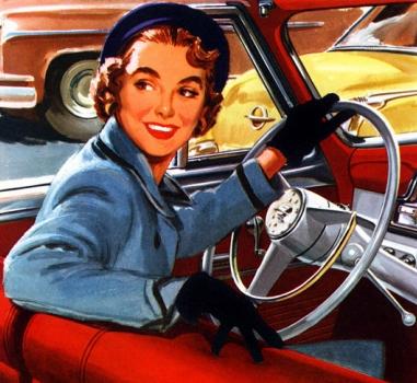 женщина за рулем (381x350, 140Kb)